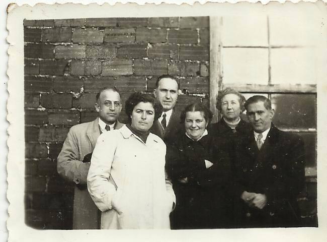 Mestres das Escolas Graduadas de Vilalba. O terceiro pola esquerda é don Felix Marín Mesones, profesor de Debuxo da Academia.